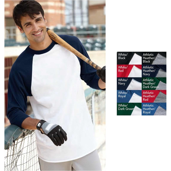 Augusta Sportswear (r) - Color 2 X L - Sportswear 3/4 Sleeve Baseball Jersey. Blank Product Photo