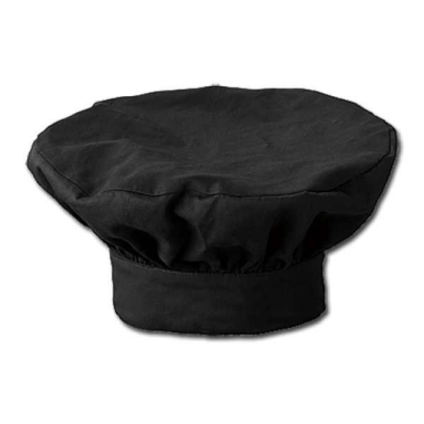 White Swan - Sa18202 White Swan Men's Chef's Hat - Black Photo