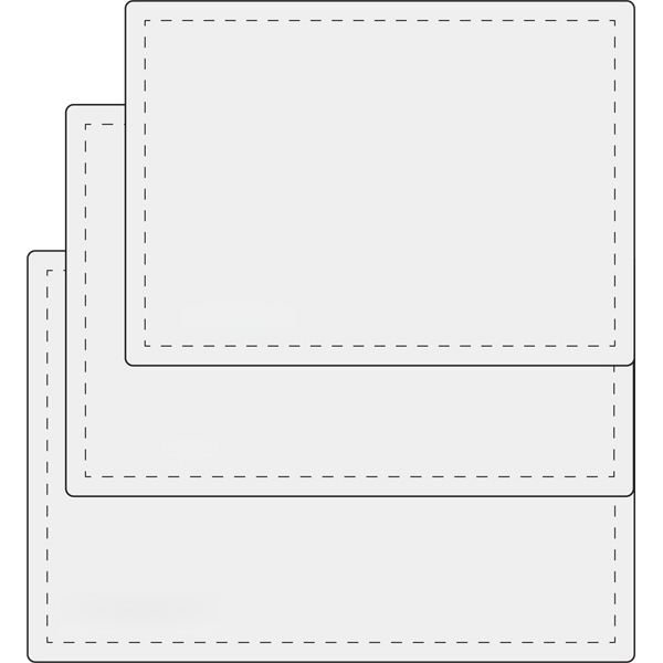"School Card Laminate Pouch, 0.7 mil - Clear school card laminate pouch for 3 3/8"" x 2 1/4"" card blank."