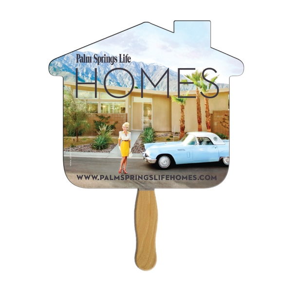 House Shaped Hand Fans