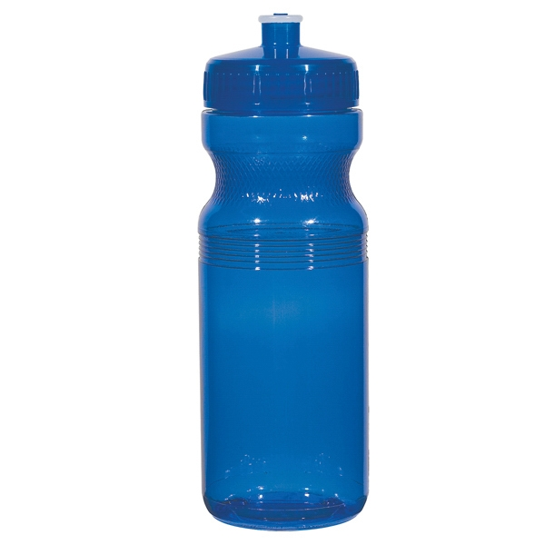 Hitgreen (tm) Poly-clear (tm) - Translucent Blue - Fitness Bottle With Leak Resistant Push Pull Lid, 24 Oz Photo