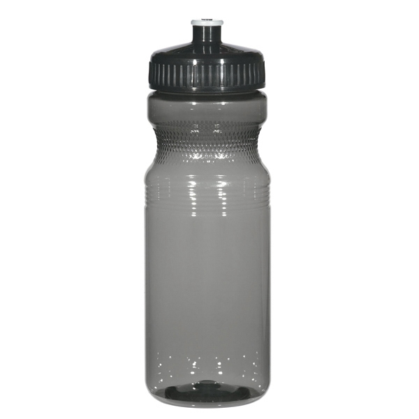 Hitgreen (tm) Poly-clear (tm) - Translucent Charcoal - Fitness Bottle With Leak Resistant Push Pull Lid, 24 Oz Photo