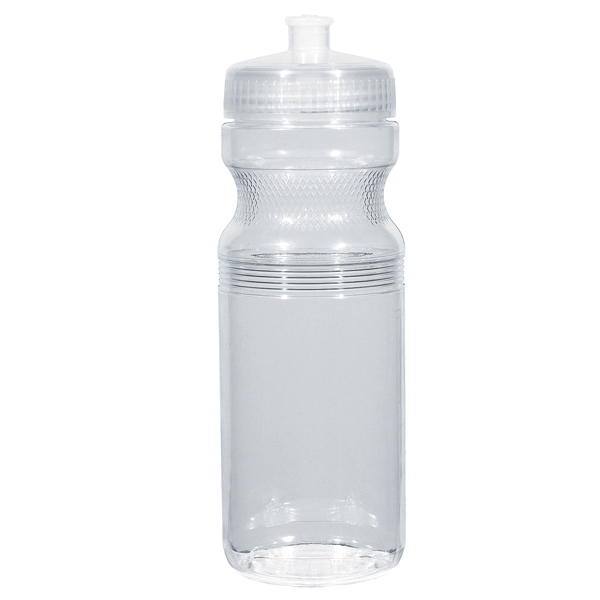 Hitgreen (tm) Poly-clear (tm) - Clear - Fitness Bottle With Leak Resistant Push Pull Lid, 24 Oz Photo