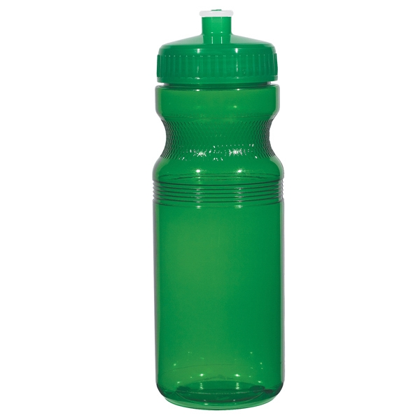 Hitgreen (tm) Poly-clear (tm) - Translucent Green - Fitness Bottle With Leak Resistant Push Pull Lid, 24 Oz Photo