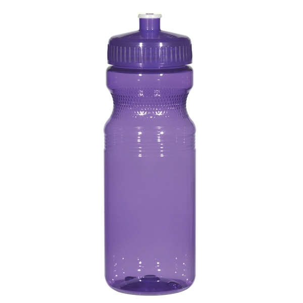 Hitgreen (tm) Poly-clear (tm) - Translucent Purple - Fitness Bottle With Leak Resistant Push Pull Lid, 24 Oz Photo