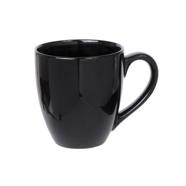 Bistro - Black - Ceramic Bistro Mug, 14 Oz Photo