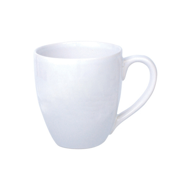 Bistro - White - Ceramic Bistro Mug, 14 Oz Photo
