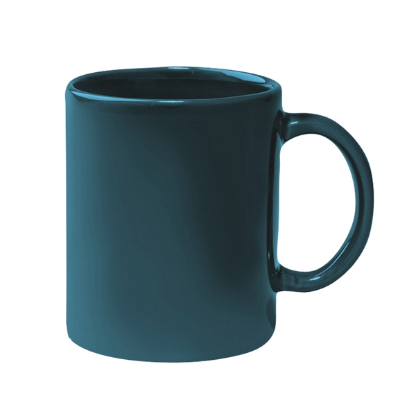 Green - Colored Stoneware Mug With C-shape Handle, 11 Oz Photo