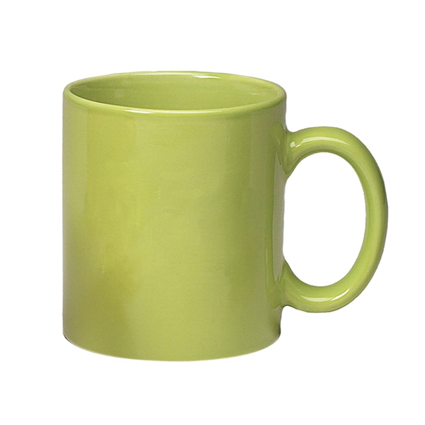 Lime Green - Colored Stoneware Mug With C-shape Handle, 11 Oz Photo