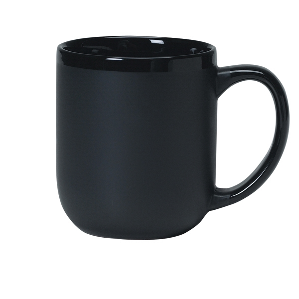 Majestic - Matte Black Exterior - 17 Oz. Ceramic Mug Photo