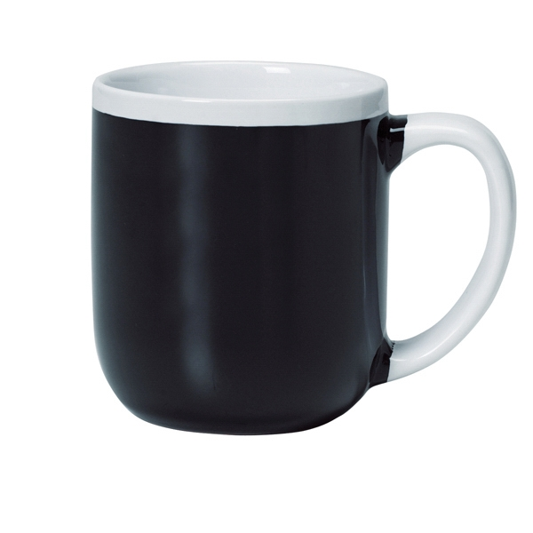 Majestic - Two-tone Black Shiny Exterior - 17 Oz. Ceramic Mug Photo