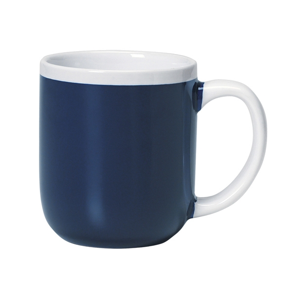 Majestic - Two-tone Cobalt Blue Shiny Exterior - 17 Oz. Ceramic Mug Photo