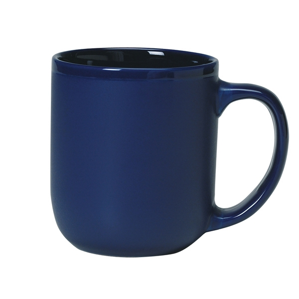 Majestic - Cobalt Blue Exterior - 17 Oz. Ceramic Mug Photo