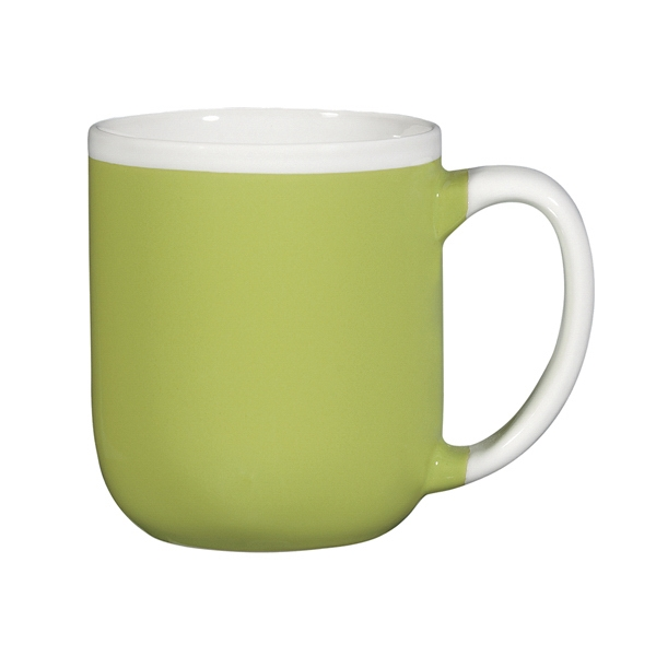 Majestic - Two-tone Lime Green Shiny Exterior - 17 Oz. Ceramic Mug Photo