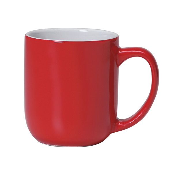 Majestic - Red Shiny Exterior - 17 Oz. Ceramic Mug Photo