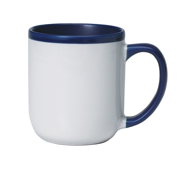 Majestic - White Shiny Exterior - 17 Oz. Ceramic Mug Photo