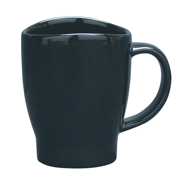 Wave - Black - 14 Oz. Mug With Curved Rim Photo