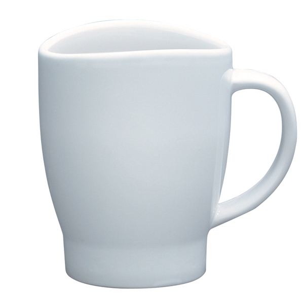 Wave - White - 14 Oz. Mug With Curved Rim Photo