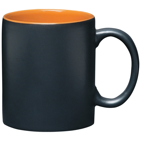 Aztec - Matte Black Exterior Mug With Orange Inner, 11 Oz Photo