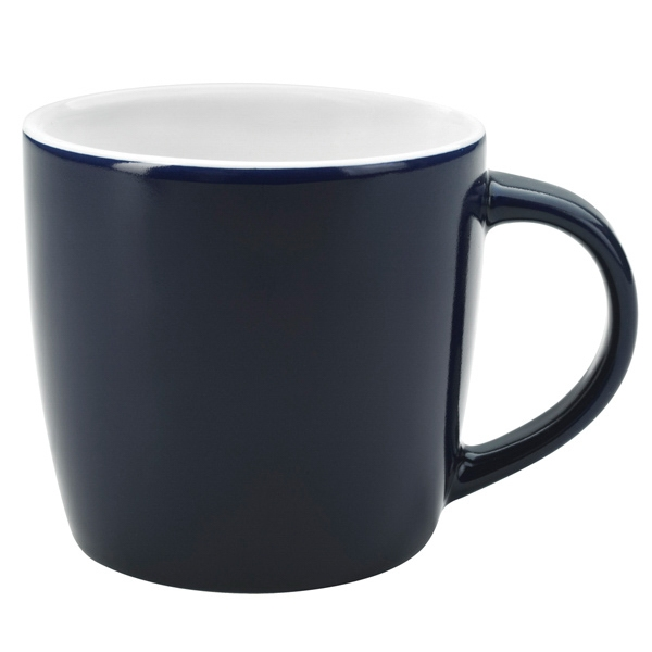 Cobalt Blue-white - Ceramic Cafe Mug, 12 Oz Photo