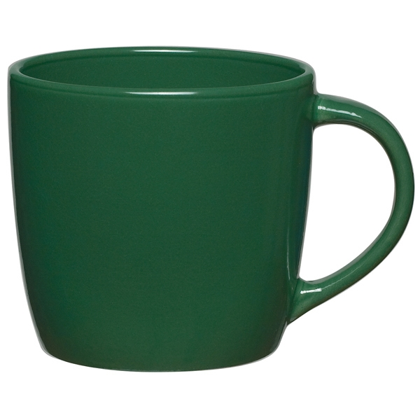 Dark Green - Ceramic Cafe Mug, 12 Oz Photo