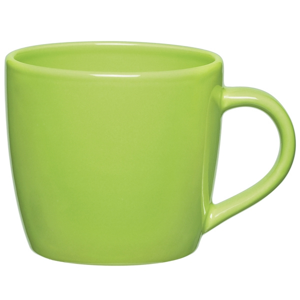Lime Green - Ceramic Cafe Mug, 12 Oz Photo