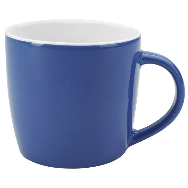 Ocean Blue-white - Ceramic Cafe Mug, 12 Oz Photo