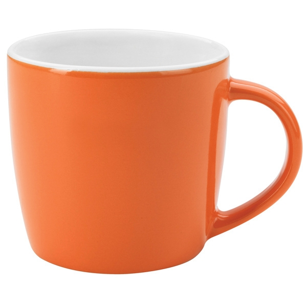 Orange-white - Ceramic Cafe Mug, 12 Oz Photo