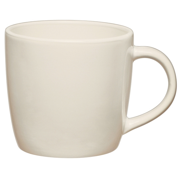 White - Ceramic Cafe Mug, 12 Oz Photo