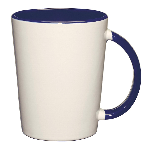 Capri - Cobalt Blue - White Ceramic Mug With Colored Interior And Handle Photo