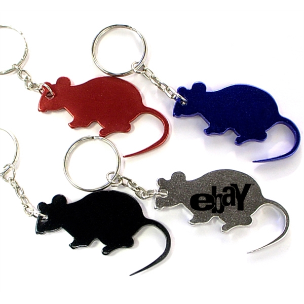 Mouse shape bottle opener key chain