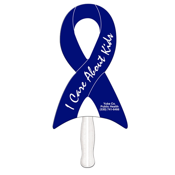 Ribbon Shape Fan With Plastic Stick Photo