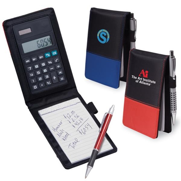 Calcu-jotter - Pocket Sized Pad Holder With Calculator Made Of Sturdy Pvc. Closeout Photo