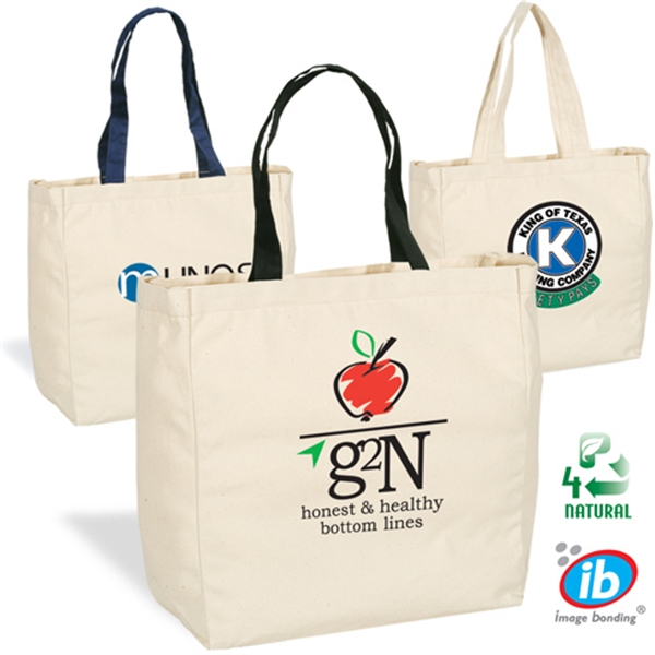 Eco-responsible (tm) Give-away - High Quality Natural 6 Oz. Canvas Tote Bag Photo