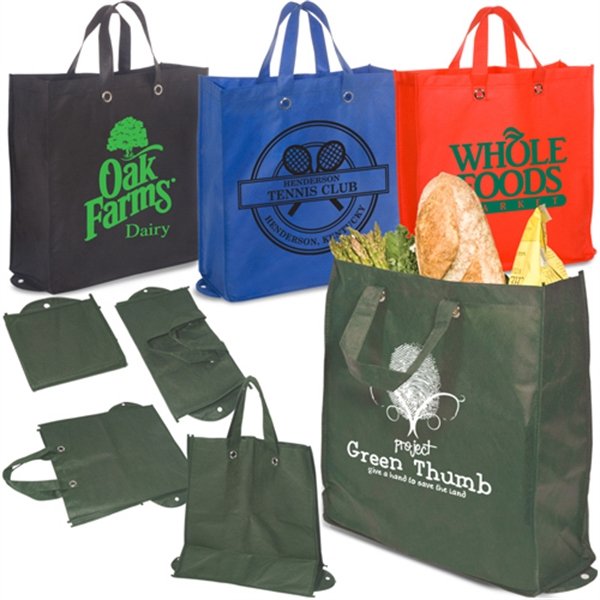 Eco-responsible (tm) Eco-green - Green Reusable Shopper Bag, Non Woven Polypropylene Photo
