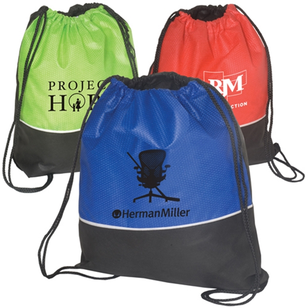 Non Woven Textured String Backpack, 80 Gsm Photo