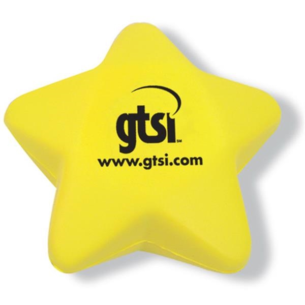 Yellow Star Shaped Stress Reliever Photo