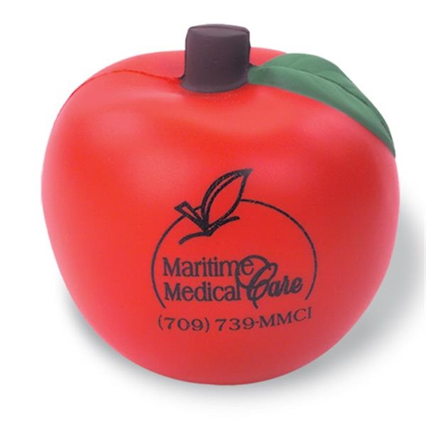 Red Apple Shaped Stress Reliever Photo