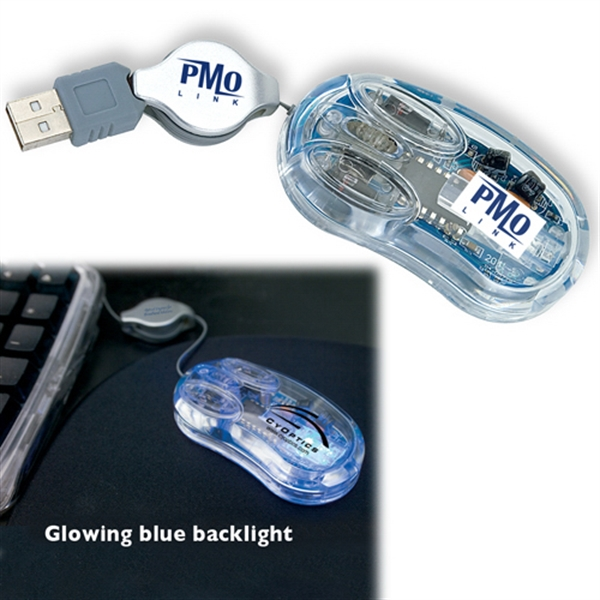 Usb Clear Optical Mini Computer Mouse Photo