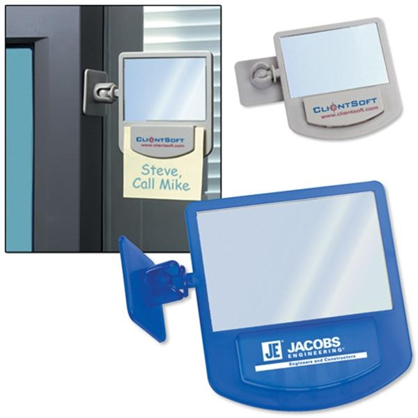 Adjust-a-mirror - Oversized Computer Mirror With Swiveling Bracket For Perfect Adjusting. Closeout Photo