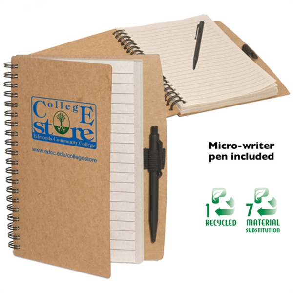 Eco-responsible (tm) Eco-note Keeper - Eco-friendly Note Keeper, Cardboard Cover Made From Recycled Paper, Comes With Pen Photo