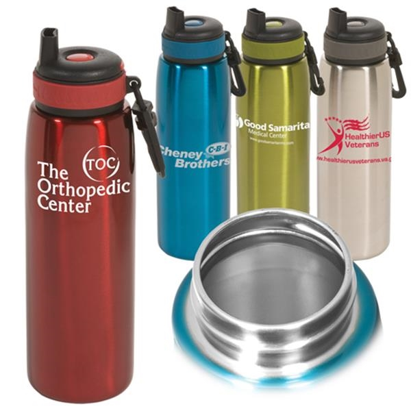 Click 'n Sip - Stainless Steel Bottle, Bpa Free. Closeout Photo