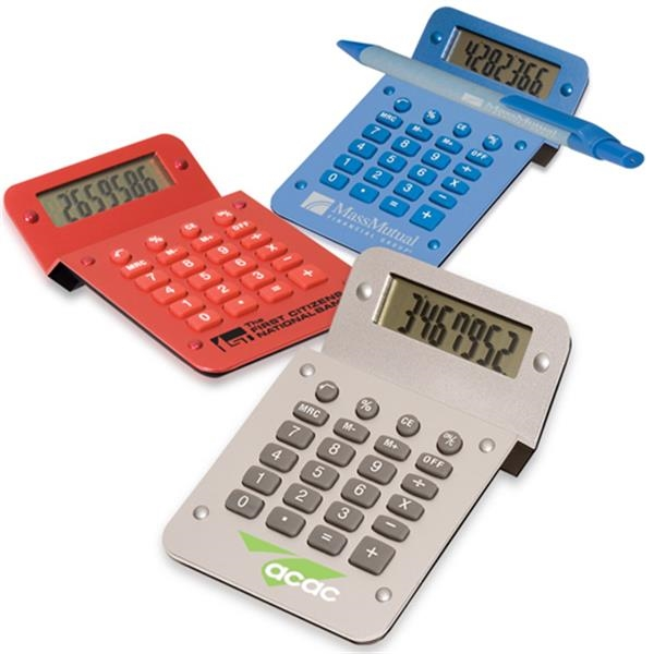 Execu-mate - Eight Digit, Full Function Calculator With Metallic Finish. Closeout Photo