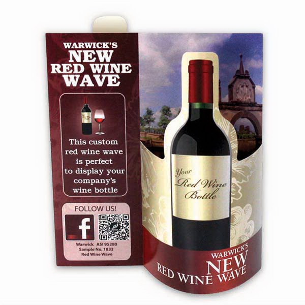 Red Wine Wave 3d Table Tent Photo