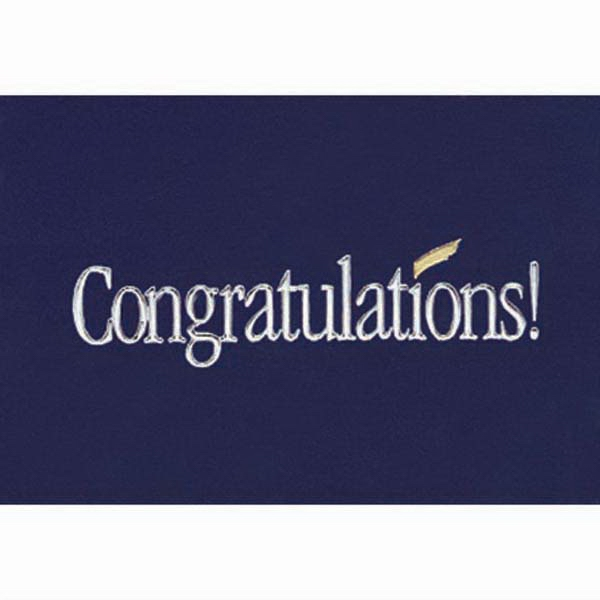 "Congratulations! - Everyday Note Card, 3 1/2"" X 5"" Photo"