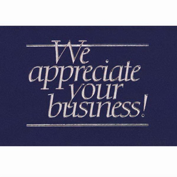 "We Appreciate Your Business! - Everyday Thank You Note Card, 3 1/2"" X 5"" Photo"