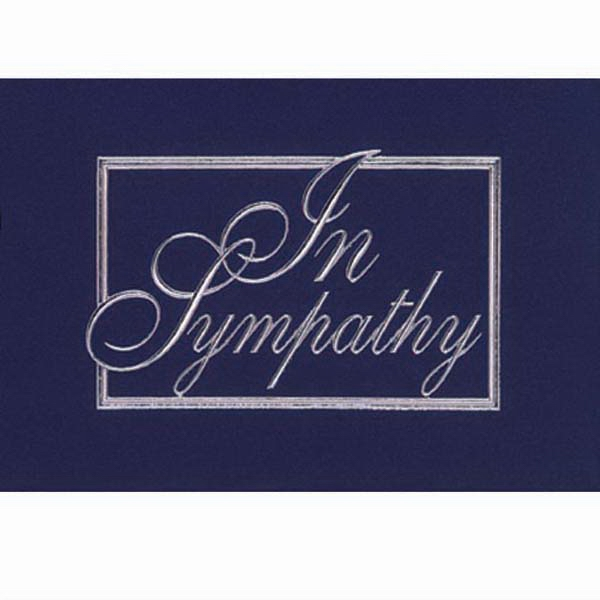 "Sympathy Note Card, 3 1/2"" X 5"" Photo"