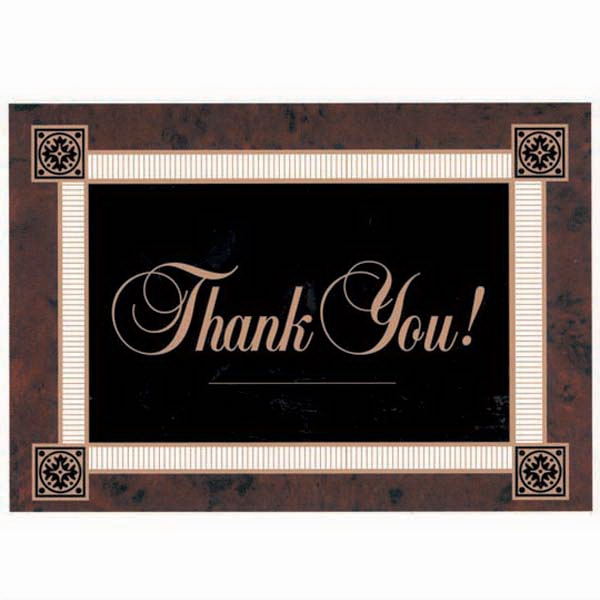 "Thank You! - Dark Background With White Border - Everyday Thank You Note Card, 3 1/2"" X 5"" Photo"