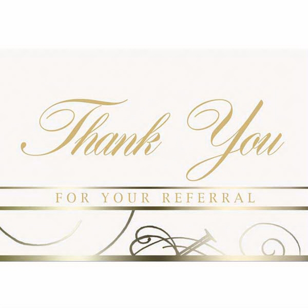 "White Everyday Note Card With ""thank You"" Scripted In The Center Photo"