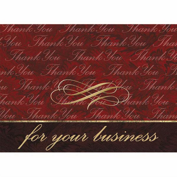 "For Your Business - 3 1/2"" X 5"" Everyday Note Card With ""thank You"" Scripted On The Cover Photo"